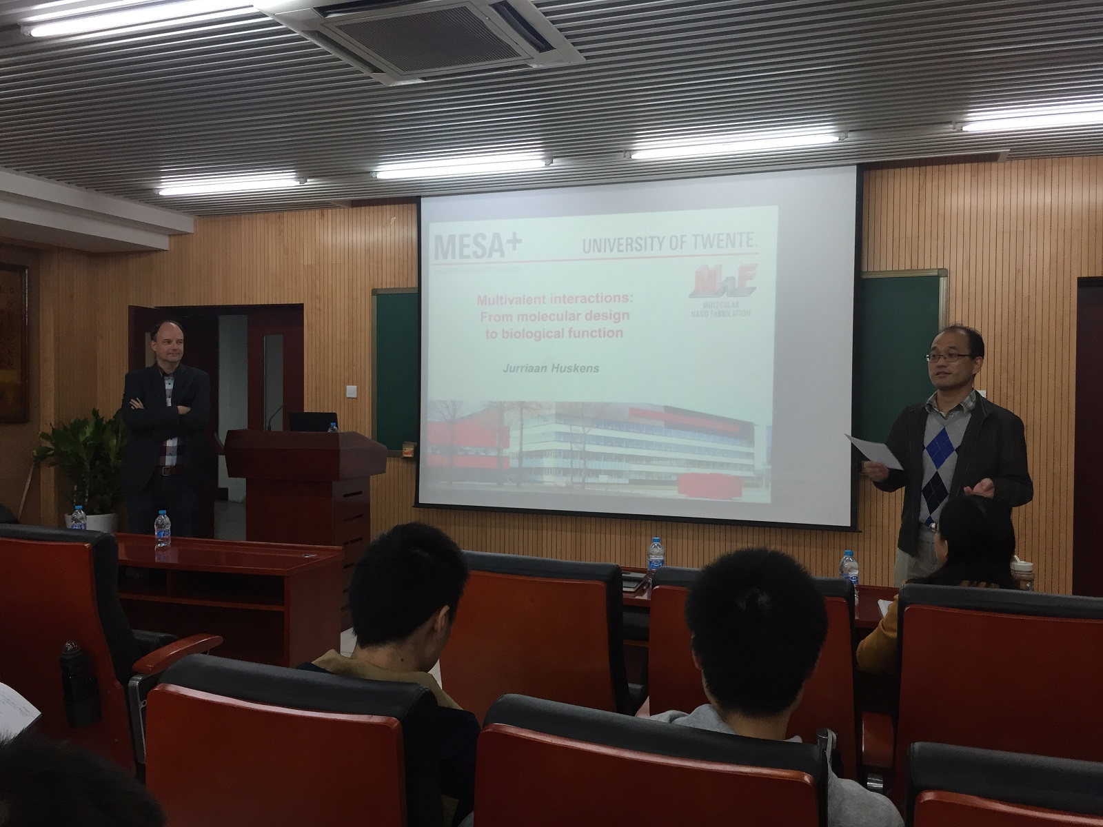 Prof. Jurriaan Huskens visited Tsinghua University and gave a lecture